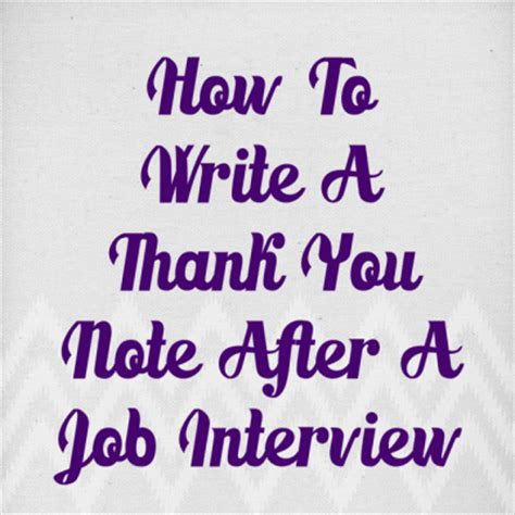 How to write interview thank you letters